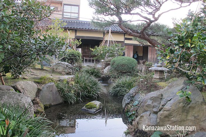 Inside the Takada House stroll garden