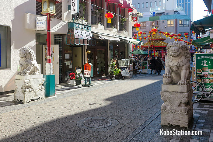 The Stone Lions at Kobe Chinatown