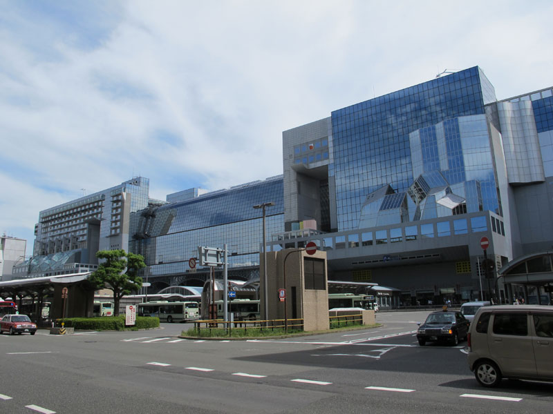 The current Kyoto Station: a triumph of futurism in a city of ancient traditions