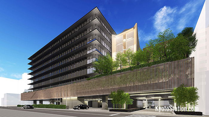 An artist's impression of The Thousand Kyoto hotel exterior