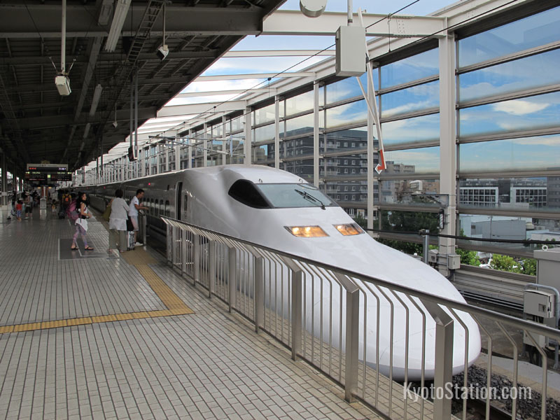 A bullet train bound for Tokyo
