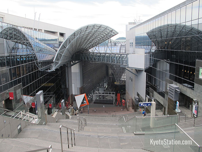 View of Kyoto Station from the