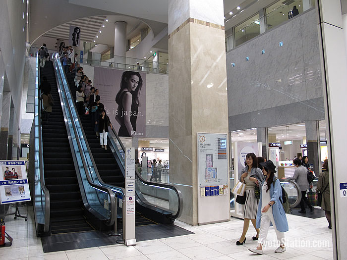 Inside the second floor entrance of Isetan