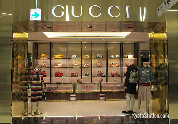 Gucci is just one among many luxury fashion brands represented on Isetan's 1st floor