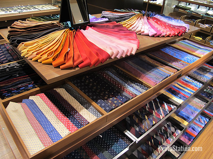 A beautiful selection of ties are on show in the 6th floor's menswear department