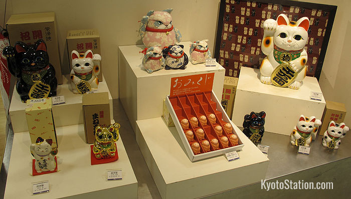 These maneki neko or inviting cats are among the popular souvenirs on the 10th floor