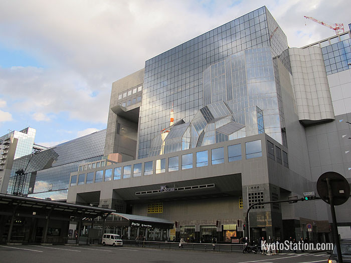 Isetan occupies 13 floors on the north west corner of Kyoto Station building