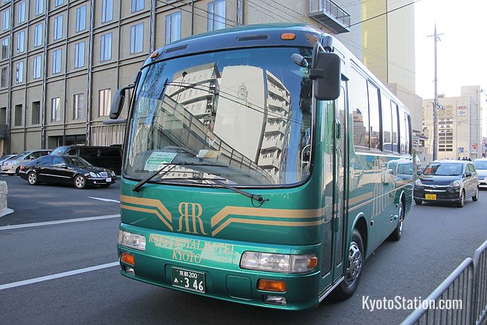 The free hotel shuttle bus makes regular trips between the hotel and Kyoto Station