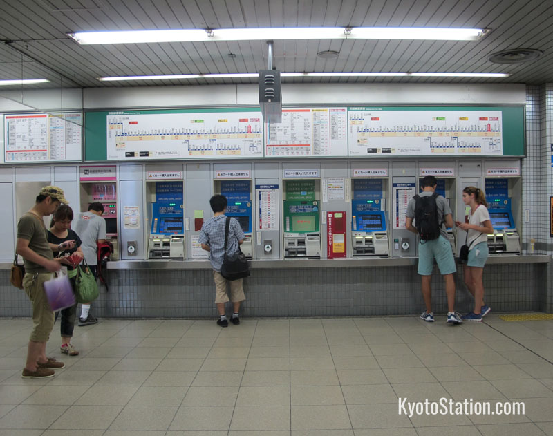 Ticket Machines at Shijo Station