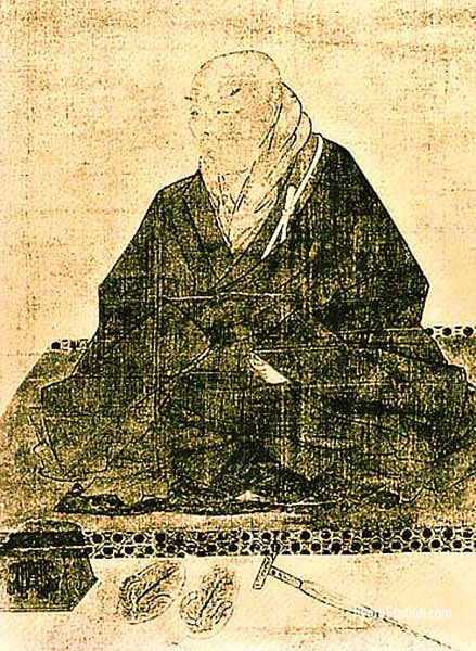 A portrait of the monk Shinran – Public Domain