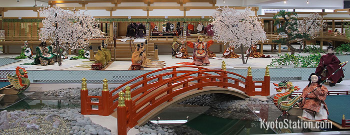 A scene from Heian period court life as depicted in the Costume Museum