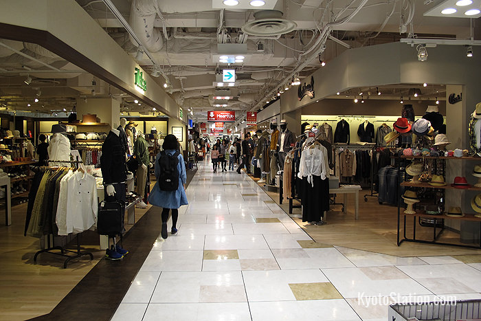 A variety of clothing stores can be found on the 4th floor