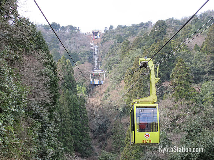 Cable cars for Mount Daishi