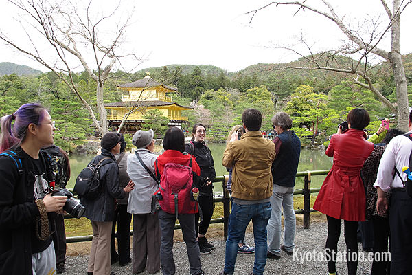 Kinkakuji is one of Kyoto's most popular locations