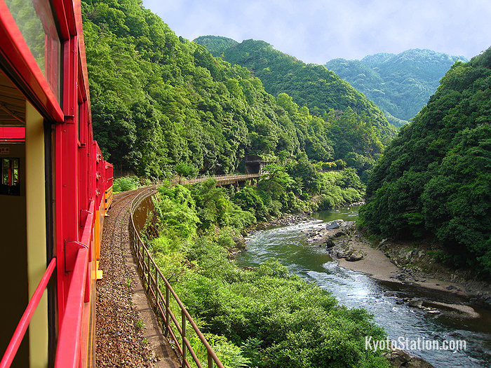 Hozugawa River View from Sagano Romantic Train