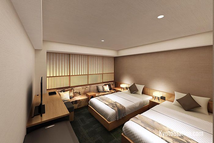 Twin Room at Daiwa Roynet Hotel Kyoto Ekimae