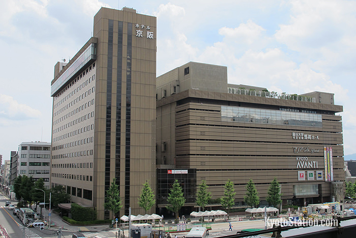 The Hotel Keihan Kyoto Grande stands beside the Avanti shopping mall, across from Kyoto Station