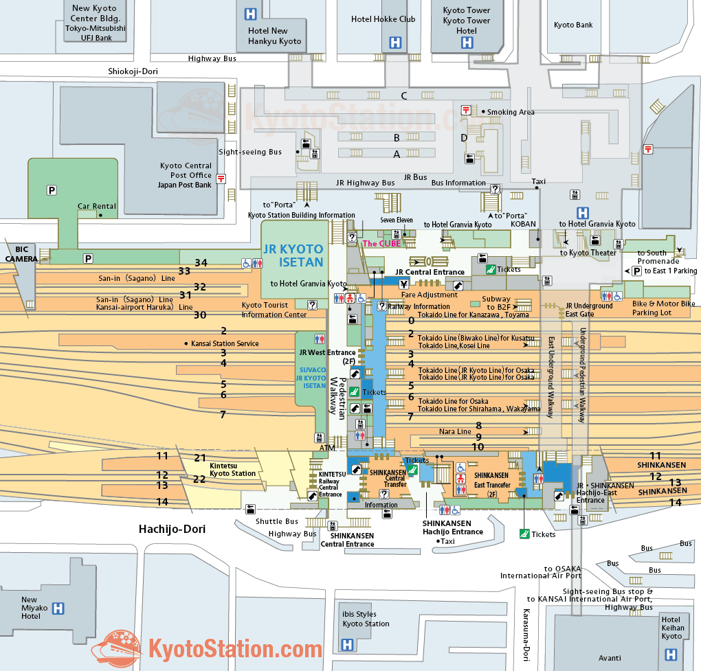 Kyoto Subway Station Map