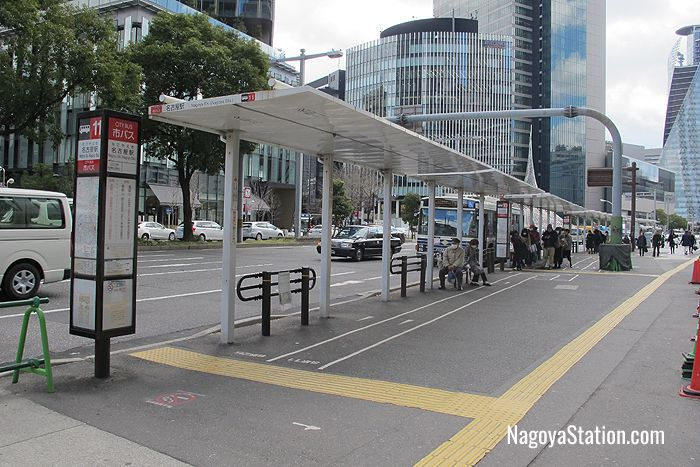 Bus stops at Nagoya Station