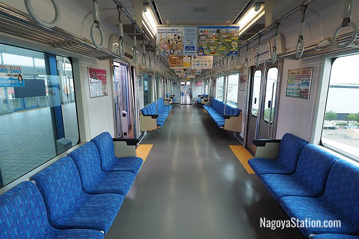 Aonami Line train car interior