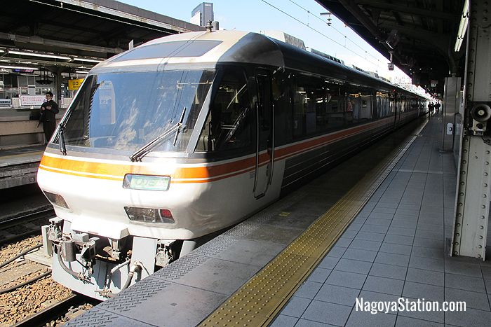 The Limited Express Hida at Nagoya Station's Platform 11