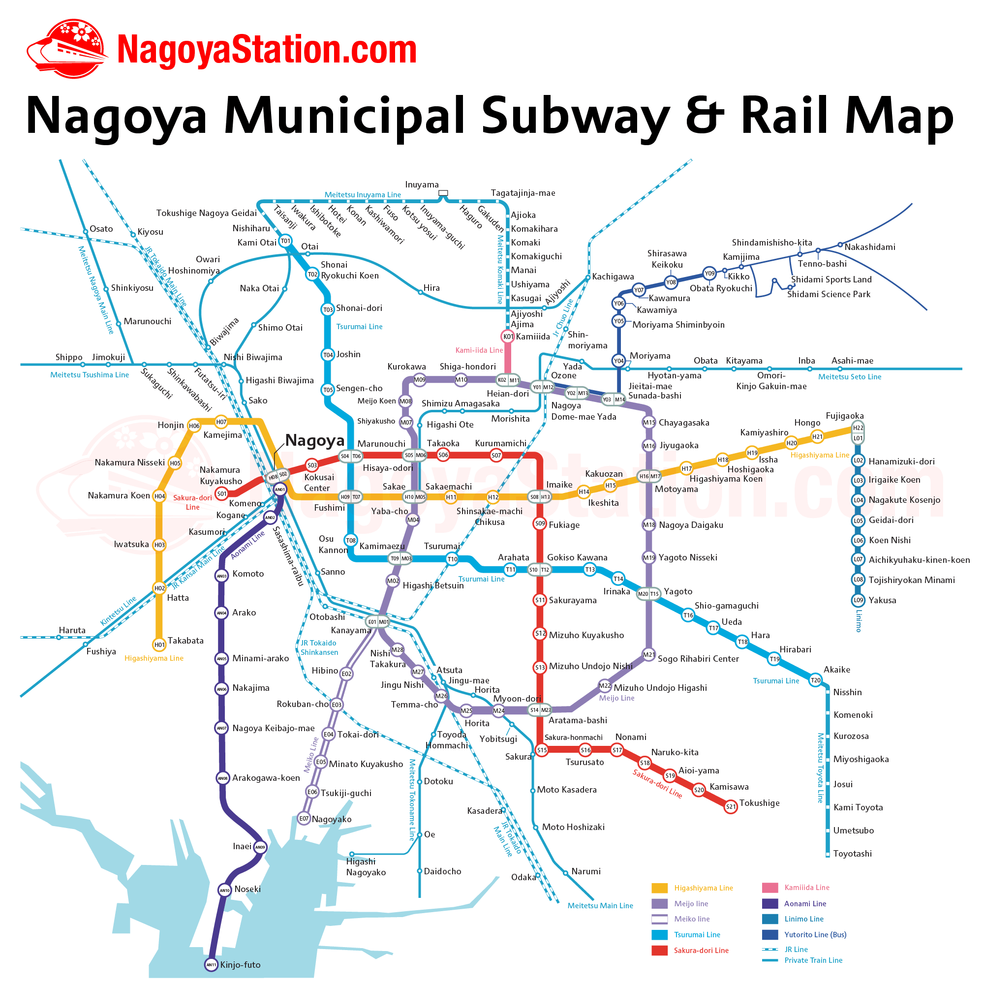 Nagoya Subway Map