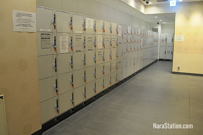 1st floor lockers at JR Nara Station