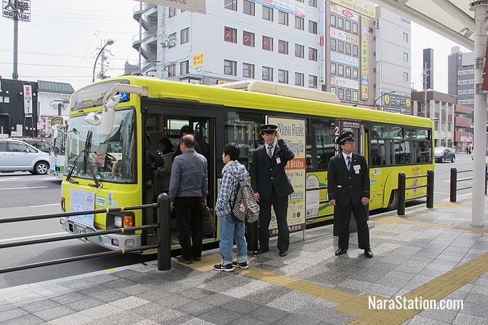 The number #2 Loop Line service at JR Nara Station