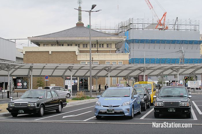 Taxis at JR Nara Station