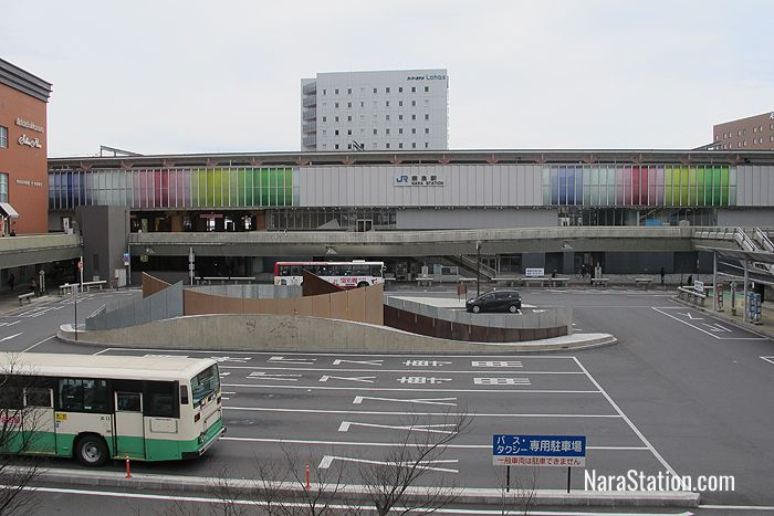 A view of JR Nara Station's west side