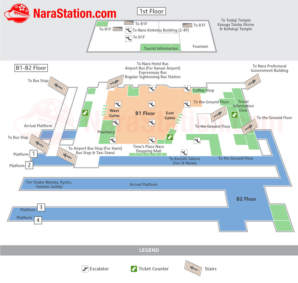 Kintetsu Nara Station Map