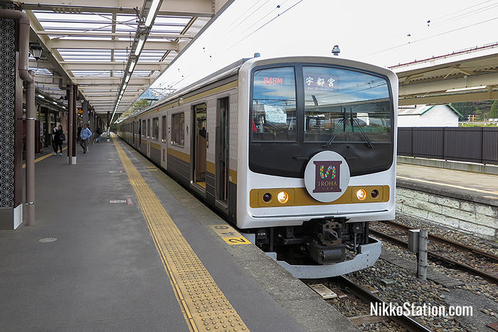 The Iroha Train at JR Nikko Station