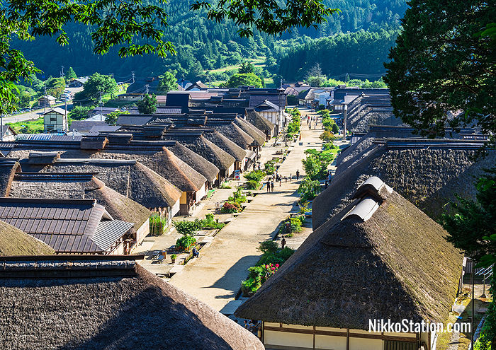 The thatched roofs of Ouchi-Juku