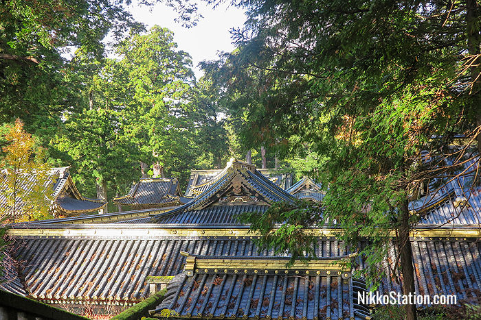 The rooftops of Toshogu