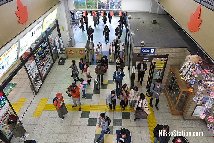 A view of the station interior