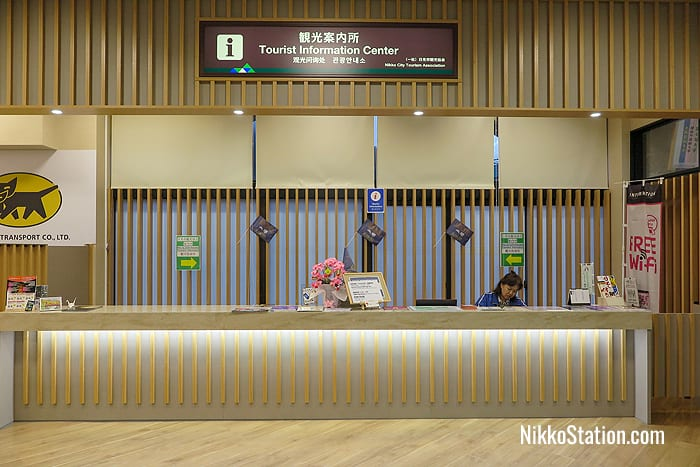 The Tourist Information counter is located beside Yamato Transport's counter