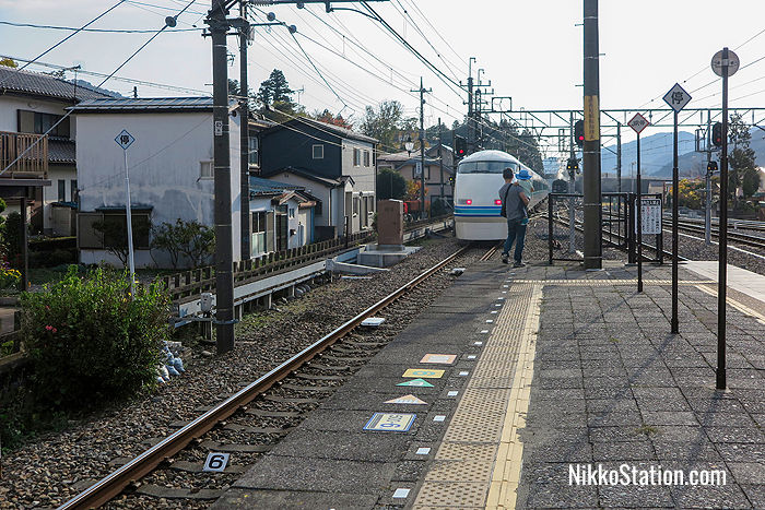 Watching the Spacia Kinugawa depart from Kinugawa-Onsen Station