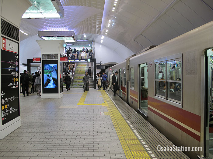 The Midosuji Subway Line Umeda Station platform
