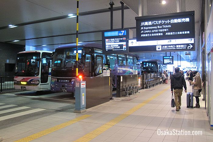 The Expressway Bus Terminal at Osaka Station