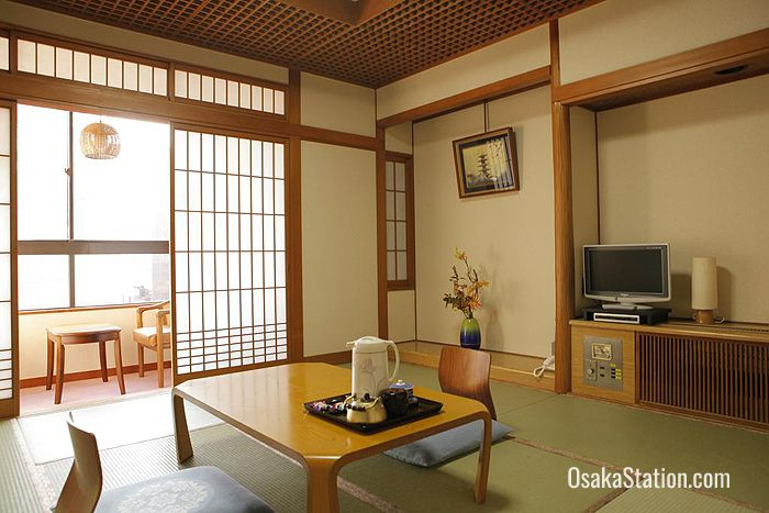 Japanese style rooms at Kaneyoshi Ryokan