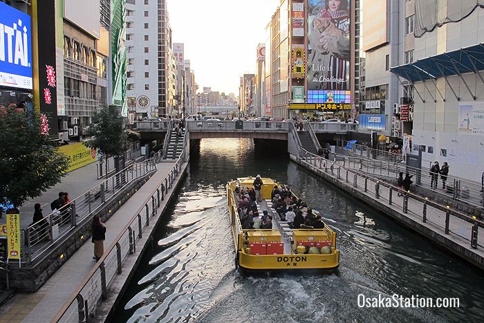 A boat cruise on the Dotonbori Canal