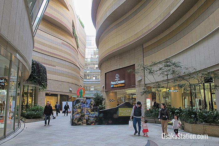 Inside the canyon of Namba Parks