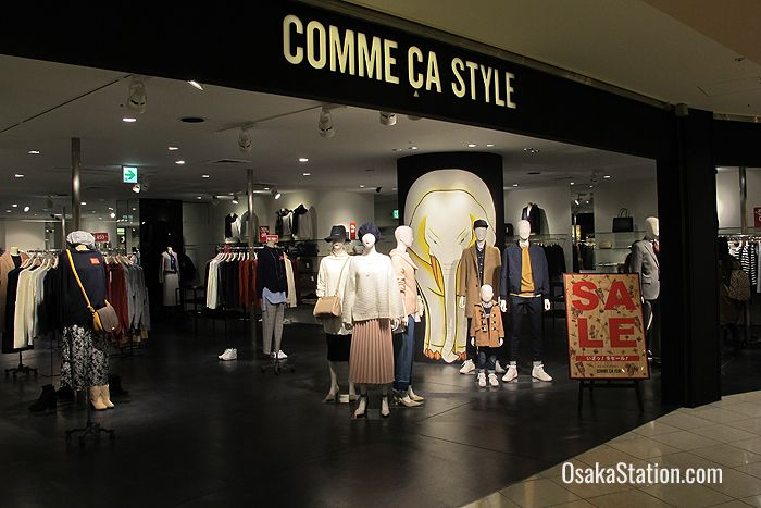 Comme Ca Style on the 3rd floor stocks high fashion designer brands with sleek lines and bold patterns