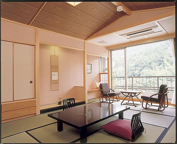 A Japanese style tatami matted room
