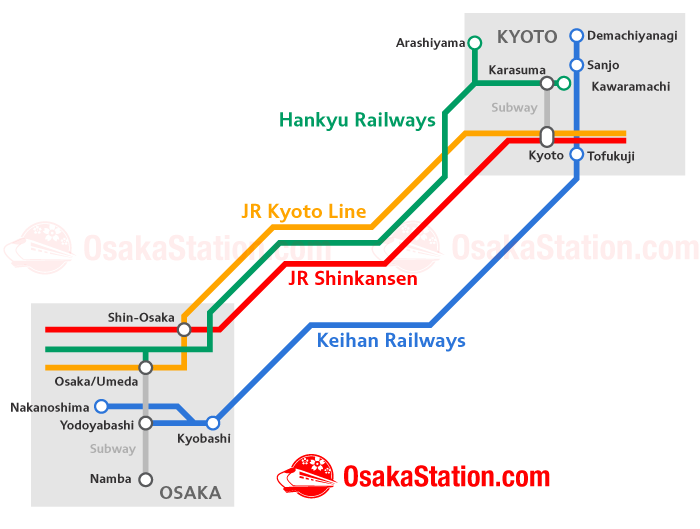 Traveling From Osaka To Kyoto Osaka Station - Japan jr map osaka