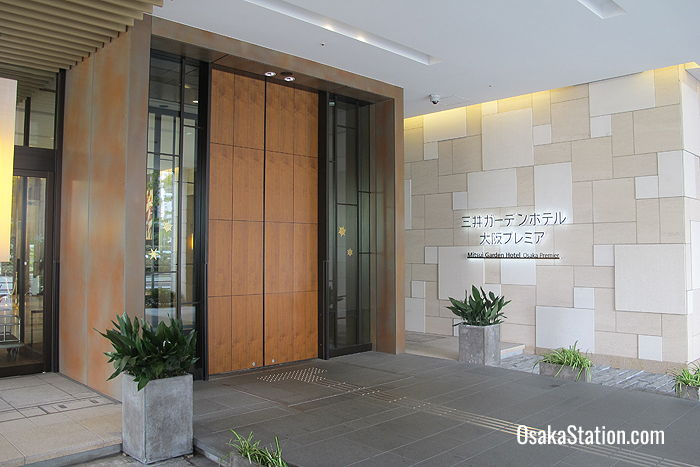 The entrance of Mitsui Garden Hotel Osaka Premier