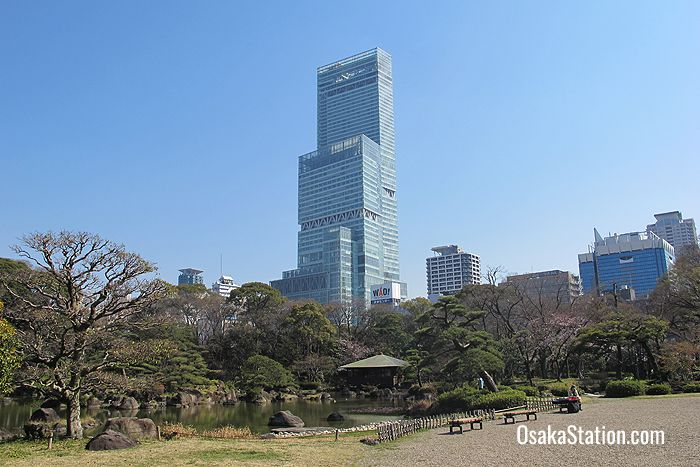 The Abeno Harukas building viewed from Tennoji Park
