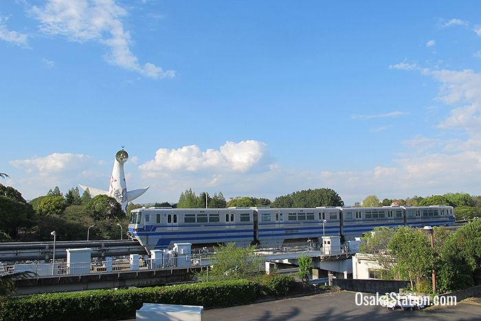 The monorail at Osaka Expo Park