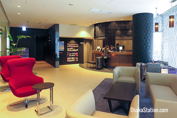 Hotel Mystays Premier Dojima lobby and reception