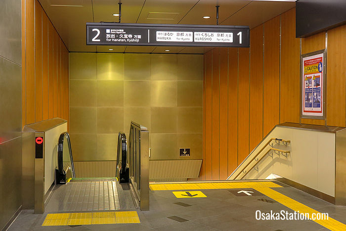 The entrance to Platform 2 at Shin-Osaka Station